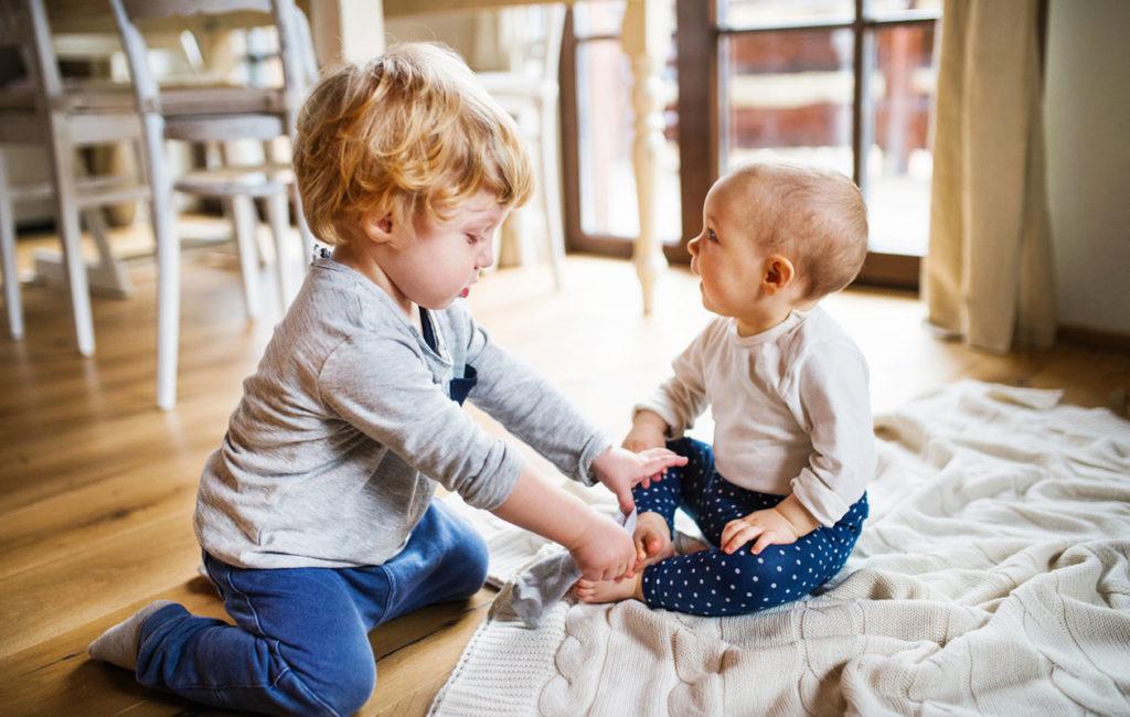 esikoinen ja vauva