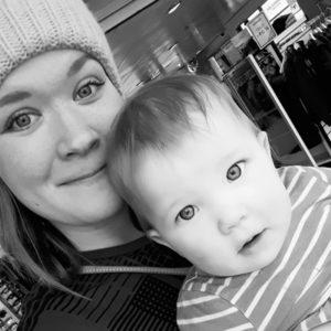 Kahden lapsen äiti Jutta, 27, Helsinki