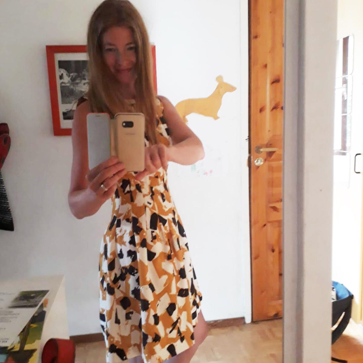 Mustikkapasta-blogin Anna Ferrante arkimekossa.