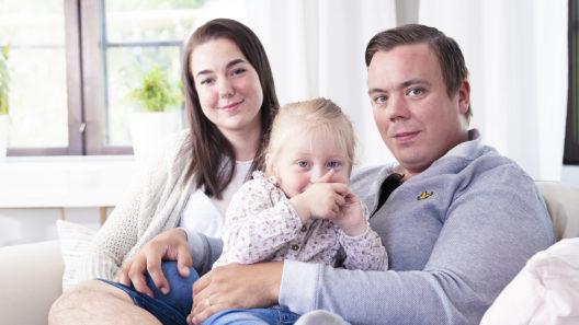 Desire Nyman ja hänen perheensä.