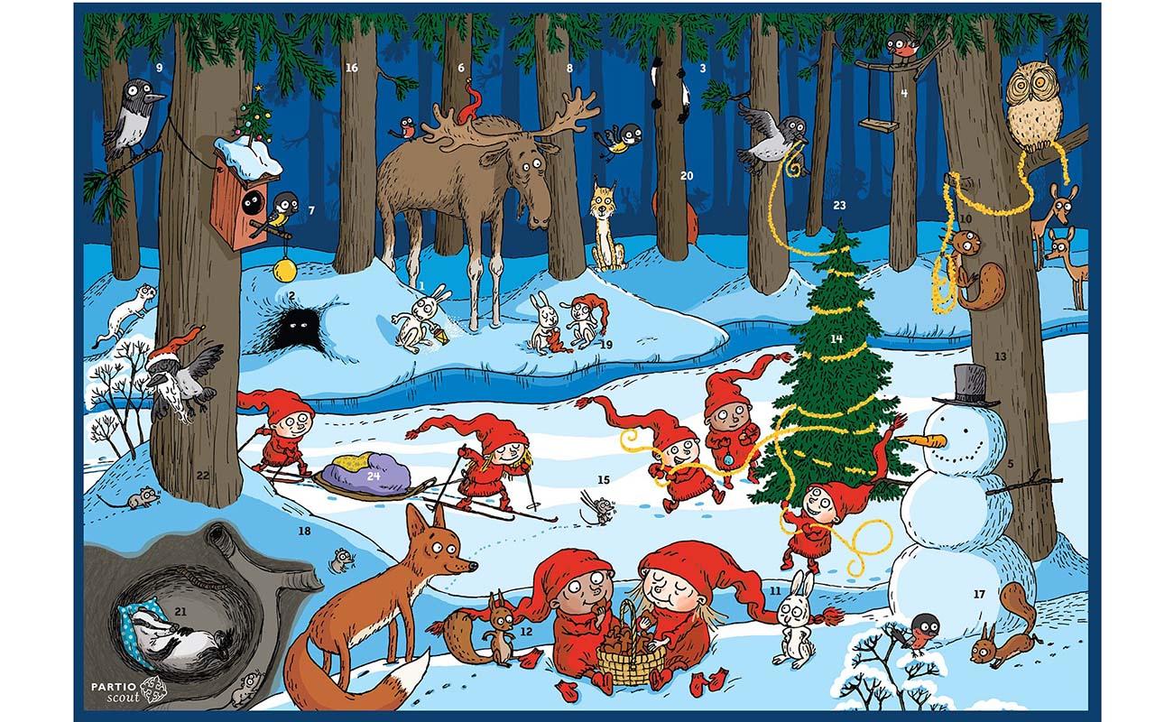 Partiolaisten joulukalenteri