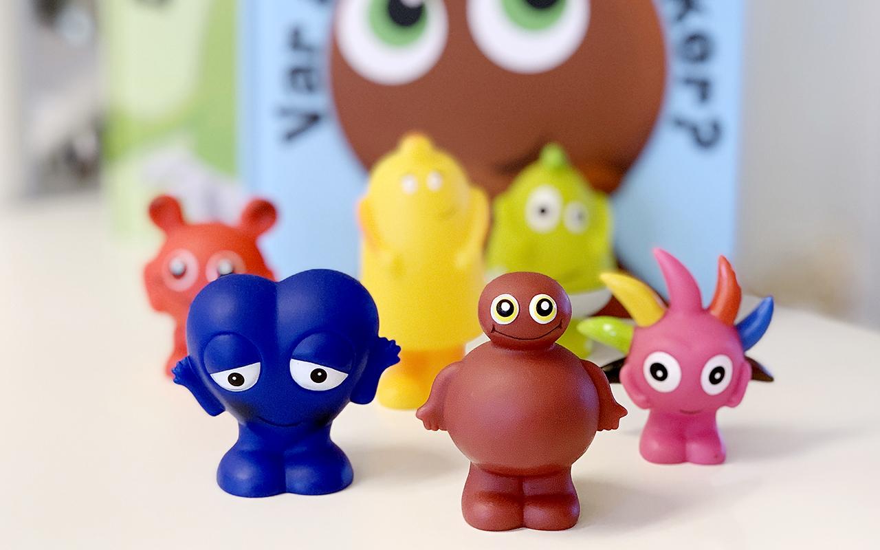 Jos 2-vuotias ei puhu, apuun voi kutsua Babblarnat, jotka ovat värikkäitä hahmoja.