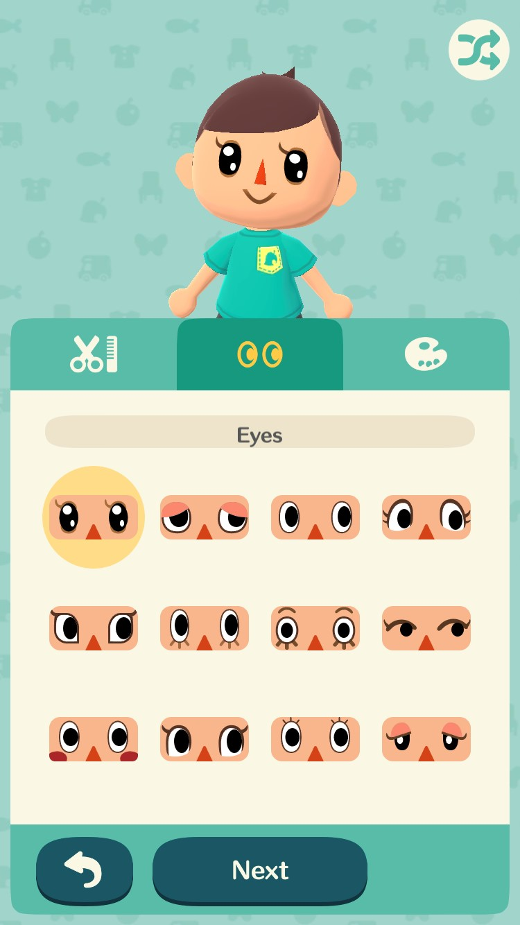 Animal Crossing-pelissä suunnitellaan aluksi oma hahmo.