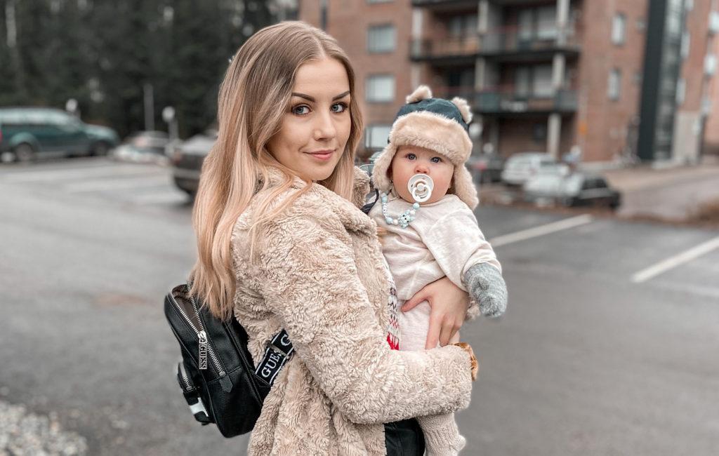 Niina Mantere pääsi opiskelemaan vauvavuoden aikana.