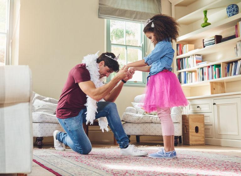 Prinsessavaiheessa on tärkeää, millä tavalla vanhemmat osallistuvat siihen.