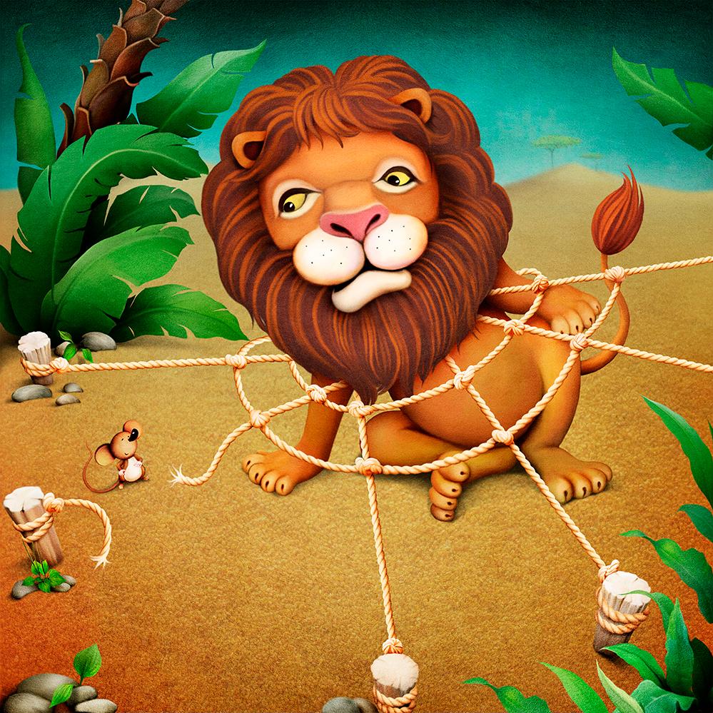leijona ja hiiri
