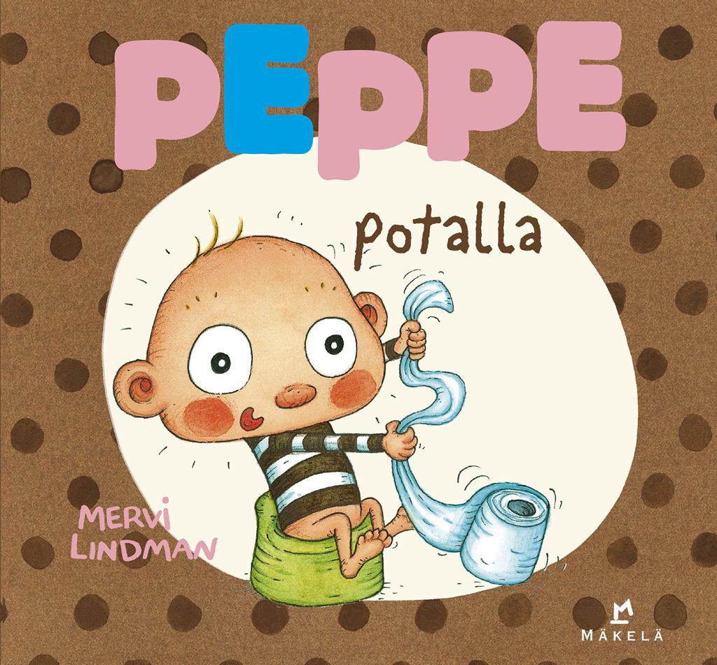 Peppe potalla on humoristinen kirja potalle mukaan otettavaksi.