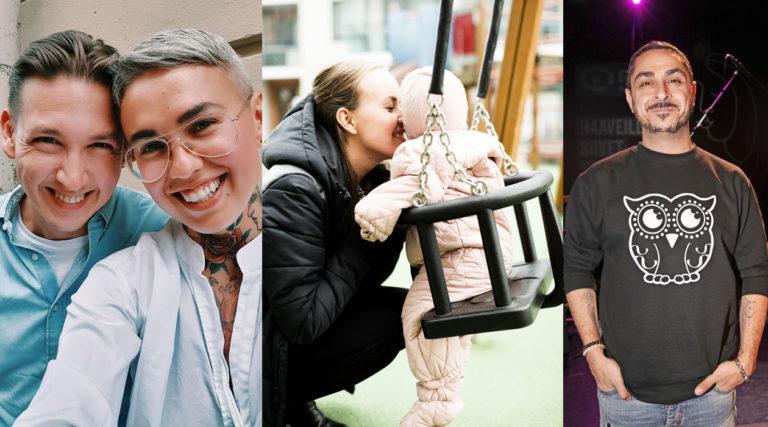 Vaikuttaja Natalia Salmela Jontte-puolisoineen, näyttelijä-bloggaaja Sara Parikka ja ruutukasvo Arman Alizad olivat kekseliäinä nimetessään 2020-luvun vauvansa.
