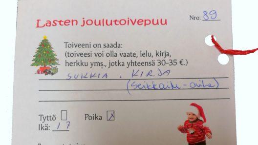 lasten joululahjakeräys