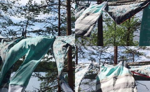 tuulessa kuivuvat vaatteet