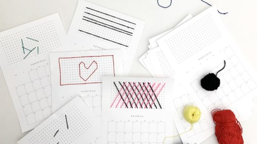 kirjottu kalenteri