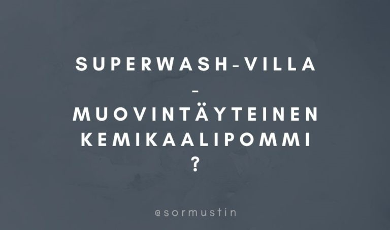 epäekologinen superwash-villa